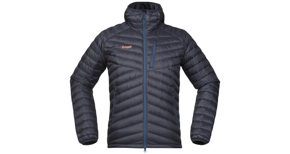 Bergans M's Slingsbytind Down Jacket m/Hood Night Blue/Dusty Blue/Pumpkin